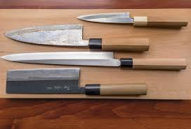 hone your knowledge of japanese kitchen knives the japan times an assortment of japanese kitchen knives from top to bottom ajikiri deba