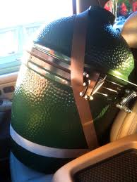 new toy the big green egg red clay soul