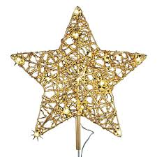 12 in 18 light led gold five metal tree topper tf04 1wy012 a