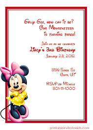 Free Printable Minnie Mouse Invitation Template by Minnie Mouse Free Birthday Invitation Template Http