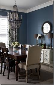 Navy Blue Dining Room Adding Two Statement Chairs To Table On The Ends To Up The