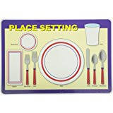 table setting placemat tot talk table setting etiquette educational placemat