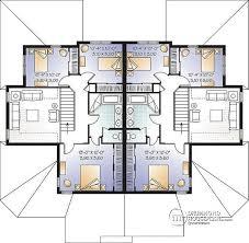 open floor plan house designs multi family plan w3001 detail from drummondhouseplans com