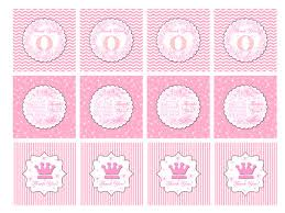 party favor labels princess thank you tags instant stickers or party