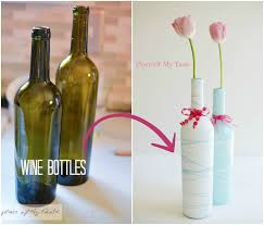 Pretty Vase Painted Wine Bottle Vases Mother U0027s Day Gift With Printable