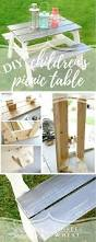 diy children u0027s picnic table perfect size for toddlers and young