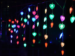 Red Heart Fairy Lights by Outdoor Amusing Red Pine Tree String Lights Led Steel String
