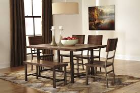 Riggerton D Table  Chairs And Bench - Ashley furniture dining table bench