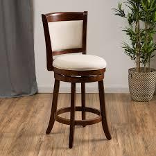 Fabric Swivel Chairs by Amazon Com Davis Fabric Swivel Backed Counter Stool Kitchen U0026 Dining
