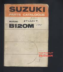 suzuki b120 m 1975 1977 parts list catalogue manual book b 120