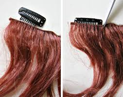 diy hair extensions how to make clip in extensions crafty crafty