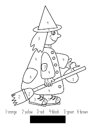 halloween coloring pages color by number halloween numbers