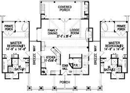 one story floor plans with two master suites wondrous inspration mediterranean house plans with two master