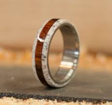 antler wedding ring ironwood antler wedding band available in titanium silver or