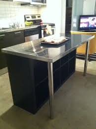 portable island from 2 ikea expedit shelves mdf casters and some