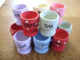 date gifts shabby personalised 10 egg cups chic wedding favor favours names