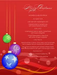christmas dinner menu template christmas menus