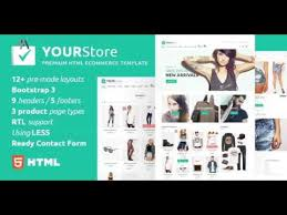 yourstore html ecommerce template themeforest website