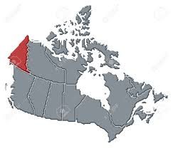 Map Of Yukon Political Map Of Canada With The Several Provinces Where Yukon