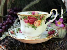 royal albert country roses teacup tea cup and saucer
