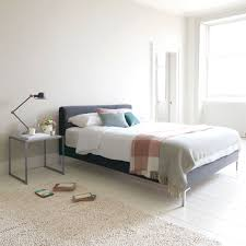 Minimalistic Bed Chrome Bed Contemporary Style Bed Loaf