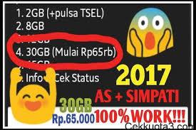 cek kuota telkomsel 30gb trik mendapatkan paket internet murah telkomsel 30 gb rp 70 ribu