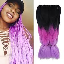 ombre kanekalon braiding hair purple ombre kanekalon jumbo braiding hair colors 24 100g