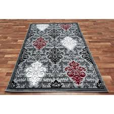 White And Red Area Rugs Bedroom Amazing Black And Red Area Rugs Ordinary Clubnoma Grey