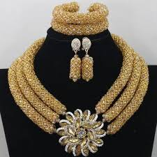 chunky fashion necklace images Chilazexpress chunky gold crystal beads women necklace bridal fashion jpg