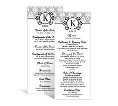 tea length wedding program template wedding tea length programs 3 625 x 8 875 customizable wedding