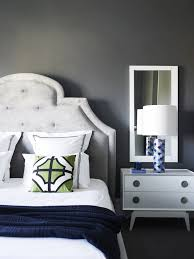 Greg Natale Contemporary Bedroom With Smoky Gray Wall Color With - Jonathan adler bedroom