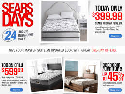 sears canada days 24 hour bedroom sale on selected mattresses