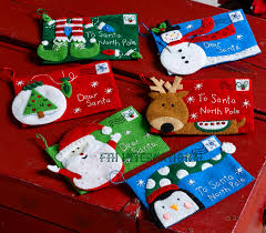 letters to santa envelopes 6 pce bucilla felt ornament