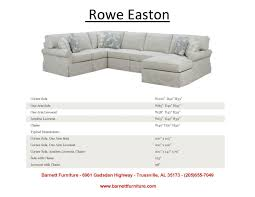 Rowe Sectional Sofas by Barnett Furniture Sectionals