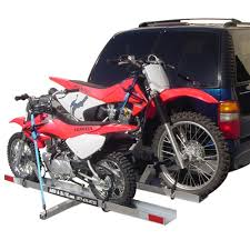motocross bike carrier motorcycle carriers haulers and racks for trailer hitches