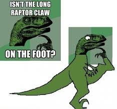 Meme Raptor - really good point point get it showing myself the door