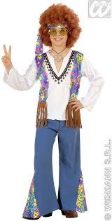 Woodstock Halloween Costume Hippie Boy Child Fancy Dress Costume 1960s