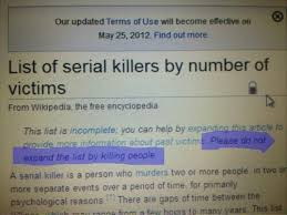 Meme Encyclopedia - the title is a serial killer meme by albagopegui memedroid