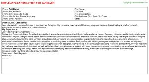 caregiver job title docs