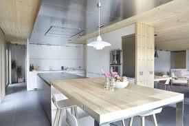 cuisine moderne bois clair 73 idées de cuisine moderne avec îlot bar ou table à manger