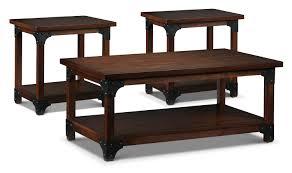 wellington coffee table and two end tables walnut leon u0027s