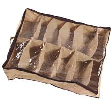 non woven fabric waterproof folding shoe holder 12 pcs shoes