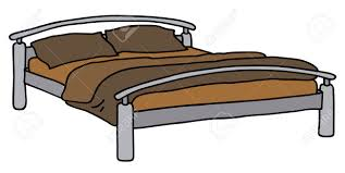 Drawing Of A Bed Hand Drawing Of A Big Bed Royalty Free Cliparts Vectors And