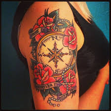 best 25 compass thigh tattoo ideas on pinterest compass tattoo
