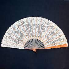 fan sticks late 19 thc lace fan blond tortoiseshell sticks weber