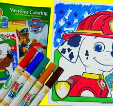 coloring marshall paw patrol coloring book crayola color