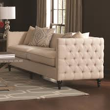 Traditional Sofas Living Room Furniture by Coaster Furniture 504891 Claxton Traditional Sofa In Beige
