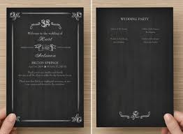 wedding program chalkboard fantastic and modern wedding programs and how to print them