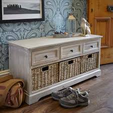 lime washed white washed hallway storage bench charishandmade