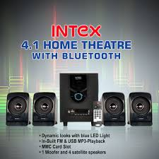 mp3 home theater buy intex 4 1 home theatre with bt online at best price in india